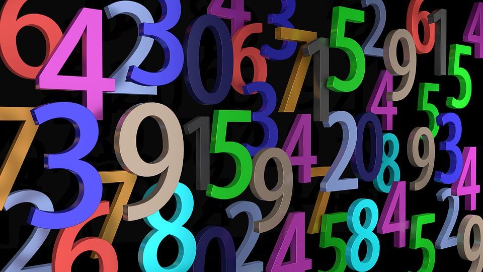 barevné číslice