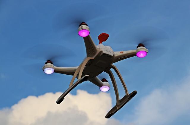létání dronu