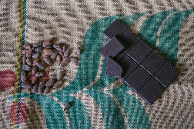 kakaové boby a čokoláda