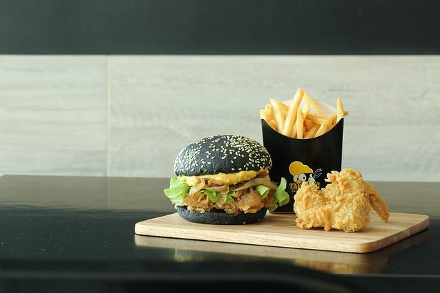 černý burger