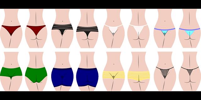 střihy kalhotek